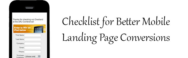 Checklist for Better Mobile Landing Page Conversions