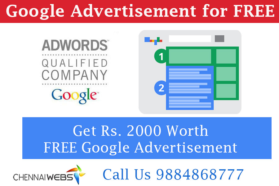 Free Google Advertising in Chennai